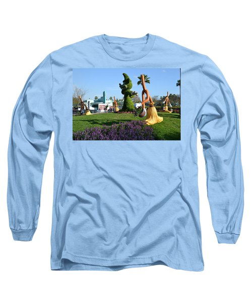 Fantasia In Flowers Long Sleeve T-Shirt by Bonnie Myszka