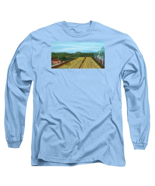 Field Of Yarrow-that's A Flower Long Sleeve T-Shirt by Katherine Young-Beck