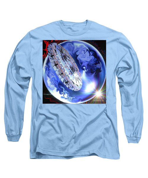 Long Sleeve T-Shirt featuring the digital art Final Approach by Greg Moores
