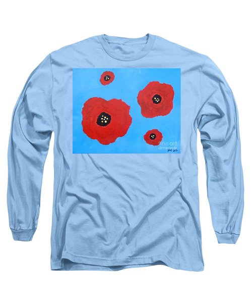 Long Sleeve T-Shirt featuring the painting Floating Flowers by Alys Caviness-Gober