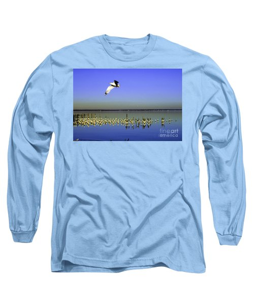 Flying Solo Long Sleeve T-Shirt by Clayton Bruster