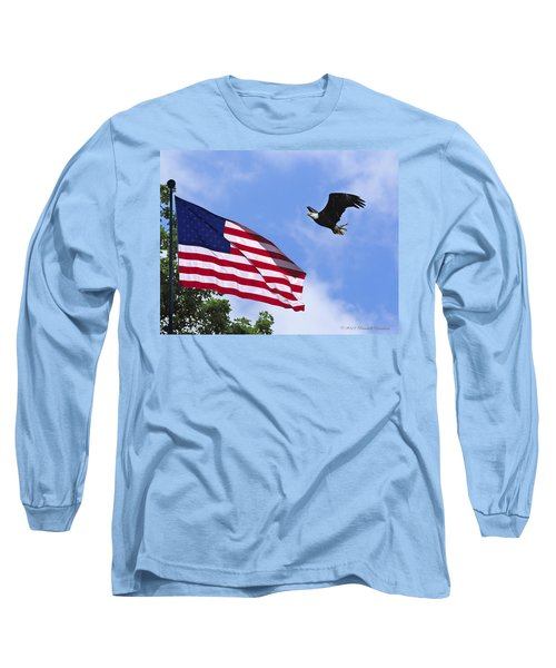 Long Sleeve T-Shirt featuring the photograph Freedom Feeds The Family by Randall Branham