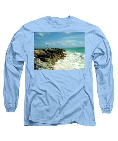 Long Sleeve T-Shirt featuring the photograph Freeport Coast by Cynthia Amaral