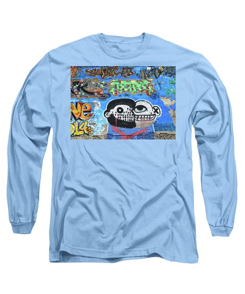 Long Sleeve T-Shirt featuring the photograph Graffiti Provence France by Dave Mills