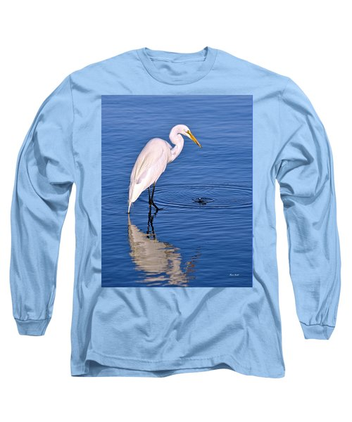 Great Egret With Shrimp Long Sleeve T-Shirt