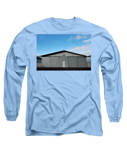 Long Sleeve T-Shirt featuring the photograph Hangar 2 The Building by Kathleen Grace