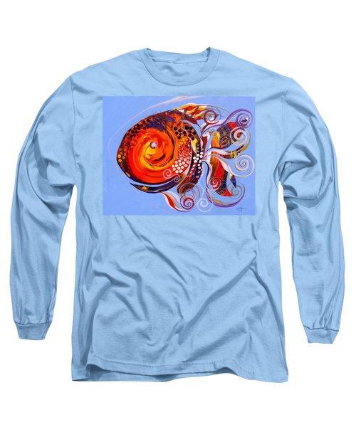 Happy Rainbow Fish Long Sleeve T-Shirt