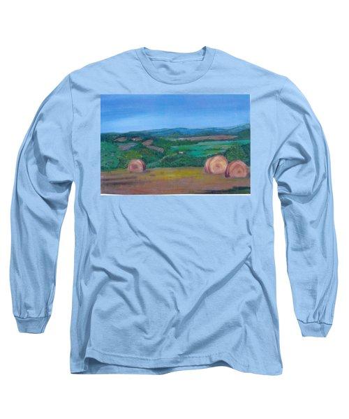 Hay Bales Long Sleeve T-Shirt by Christine Lathrop