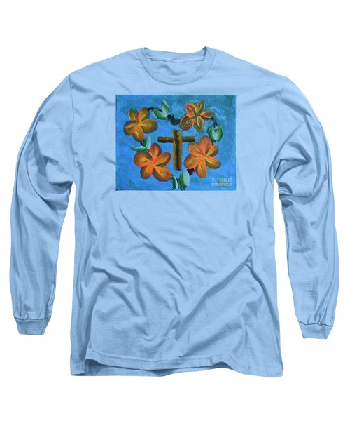 Long Sleeve T-Shirt featuring the painting His Love For Us by Donna Brown