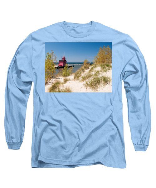 Holland Mi Lighthouse Long Sleeve T-Shirt by Larry Carr