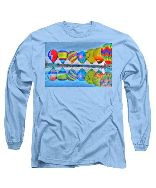 Hot Air Balloons At Eden Park Long Sleeve T-Shirt