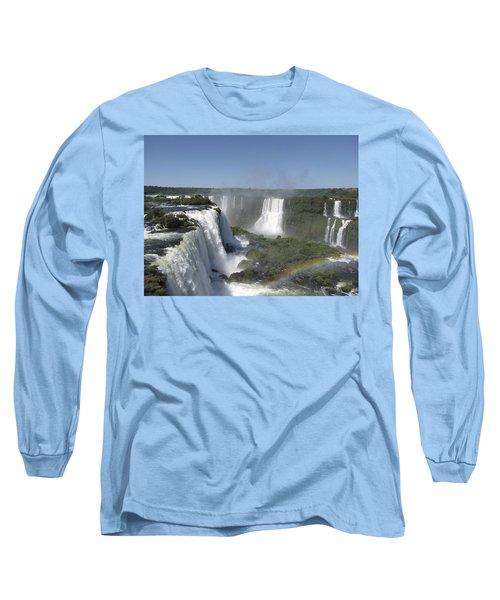 Long Sleeve T-Shirt featuring the photograph Iguazu Falls by David Gleeson