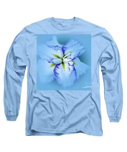 Iris In Blue Long Sleeve T-Shirt