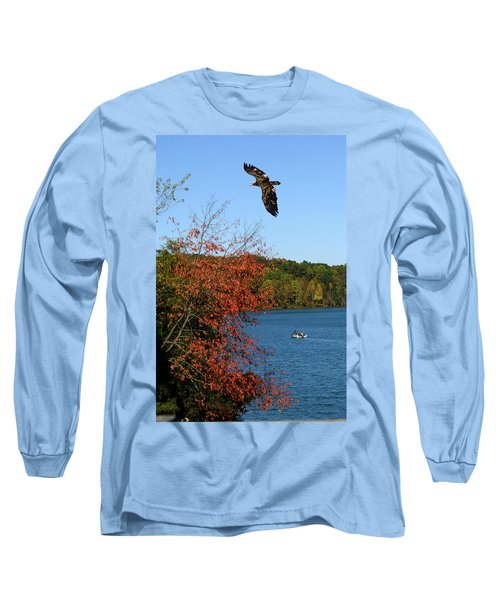 Long Sleeve T-Shirt featuring the photograph Juvenile And Fishermen by Randall Branham