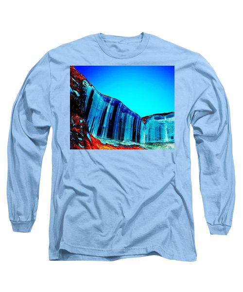 Lake Powell Blue Ice Long Sleeve T-Shirt by Rebecca Margraf