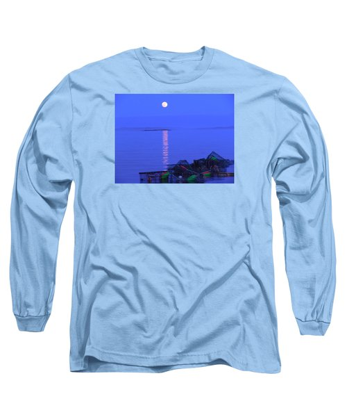 Long Sleeve T-Shirt featuring the photograph Lobstering Moon by Francine Frank