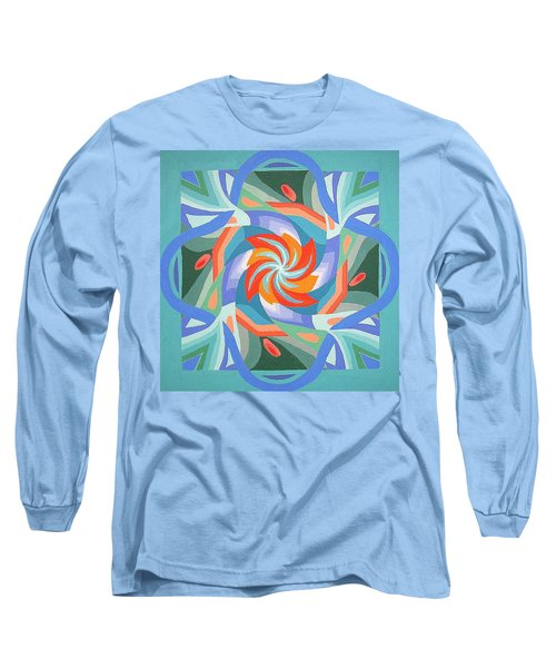 Mandala Long Sleeve T-Shirt by Rachel Hames