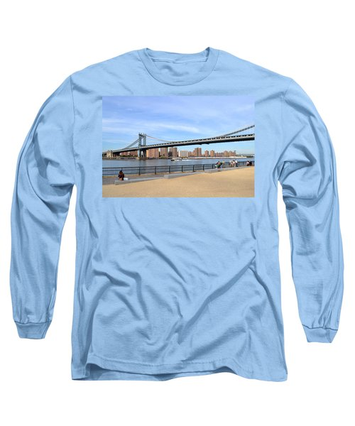 Long Sleeve T-Shirt featuring the photograph Manhattan Bridge1 by Zawhaus Photography