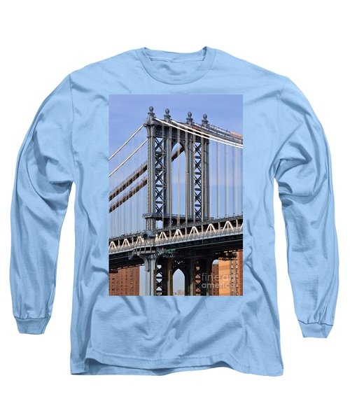 Long Sleeve T-Shirt featuring the photograph Manhattan Bridge3 by Zawhaus Photography