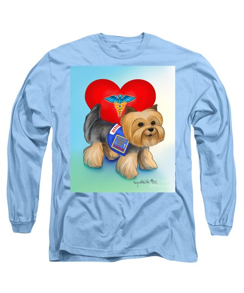 Medical Alert Yorkie Long Sleeve T-Shirt by Catia Cho