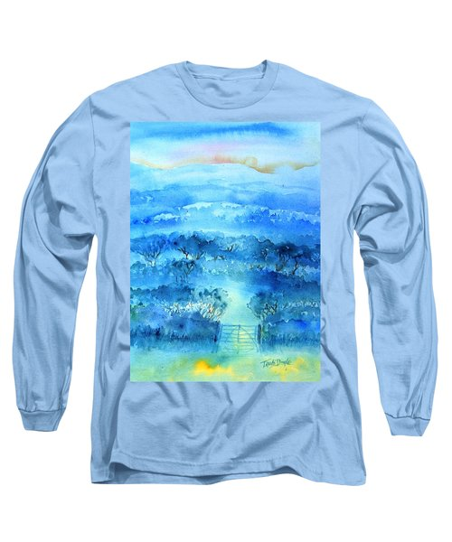 Long Sleeve T-Shirt featuring the painting Misty Morning  Ireland  by Trudi Doyle