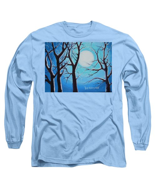 Long Sleeve T-Shirt featuring the painting Moon Light by Dan Whittemore