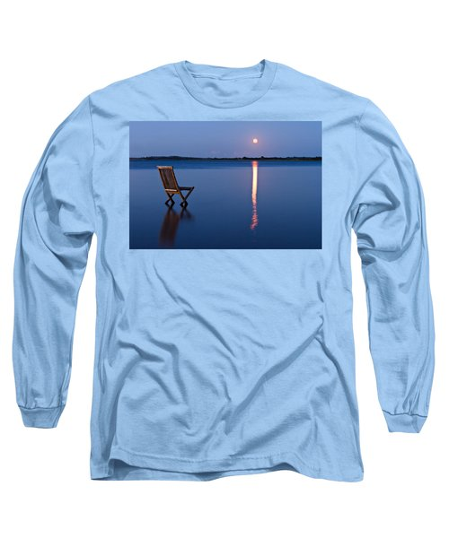 Long Sleeve T-Shirt featuring the photograph Moon View by Gert Lavsen