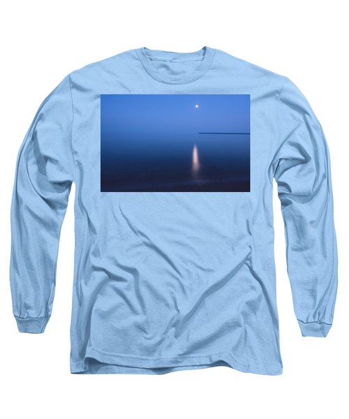 Moonrise On Lake Superior Long Sleeve T-Shirt