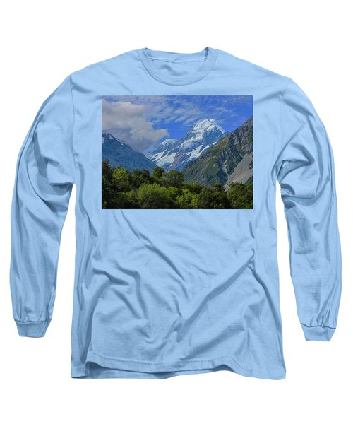 Long Sleeve T-Shirt featuring the photograph Mount Cook by David Gleeson