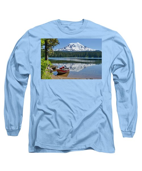 Mt Adams At The Lake Long Sleeve T-Shirt