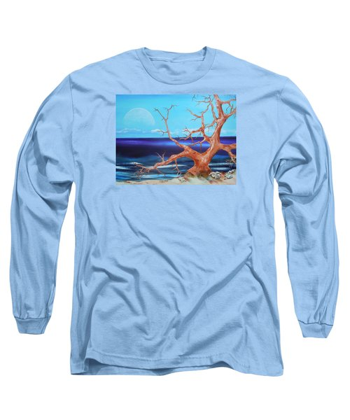 Long Sleeve T-Shirt featuring the painting Never Alone by Dan Whittemore