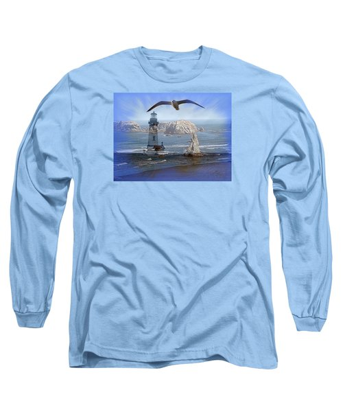 Oregon Coast Composite Long Sleeve T-Shirt by Nick Kloepping