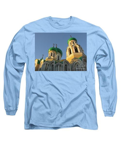 Orthodox Church Of Sts Michael And Constantine- Vilnius Lithuania Long Sleeve T-Shirt