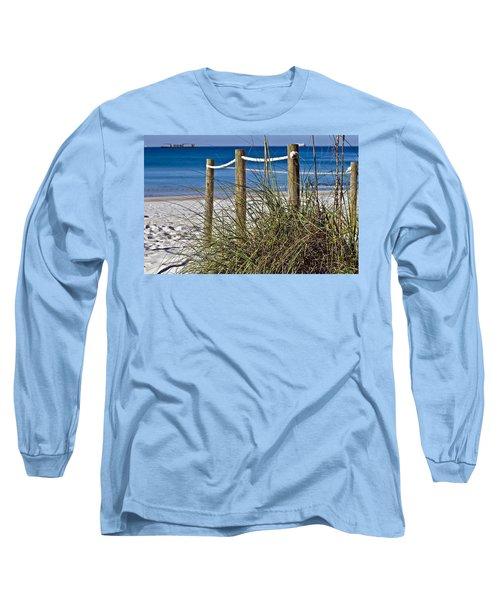 Long Sleeve T-Shirt featuring the photograph Path To The Beach by Susan Leggett