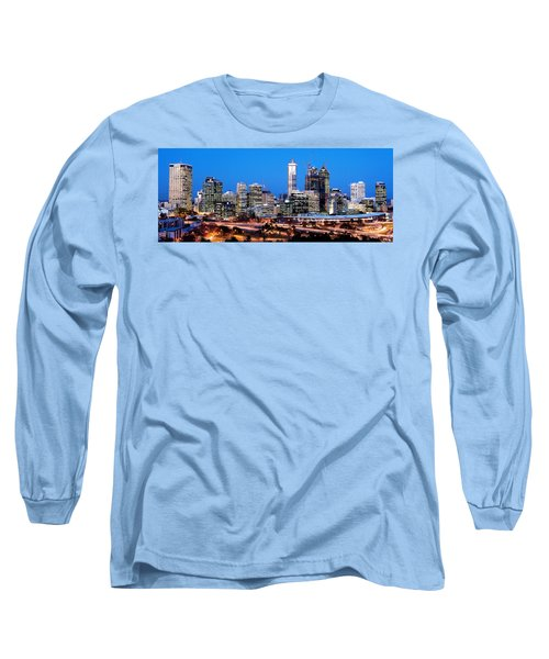 Long Sleeve T-Shirt featuring the photograph Perth City Night View From Kings Park by Yew Kwang