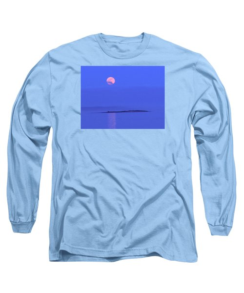 Long Sleeve T-Shirt featuring the photograph Pink May Moon by Francine Frank