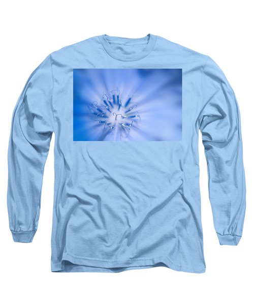 Long Sleeve T-Shirt featuring the photograph Pollination  Blue Chicory by Randall Branham