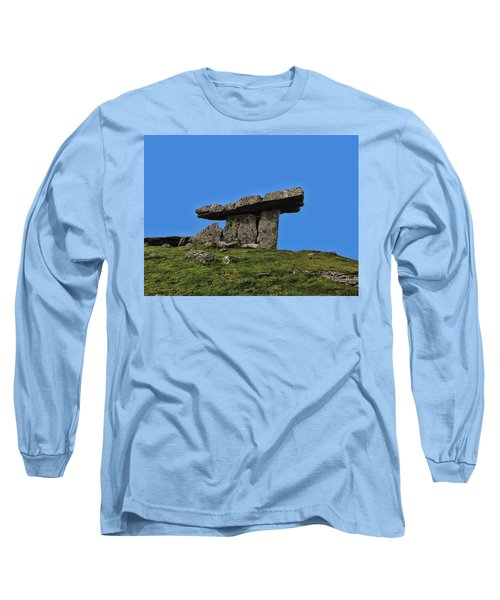 Long Sleeve T-Shirt featuring the photograph Poulnabrone Dolmen by David Gleeson