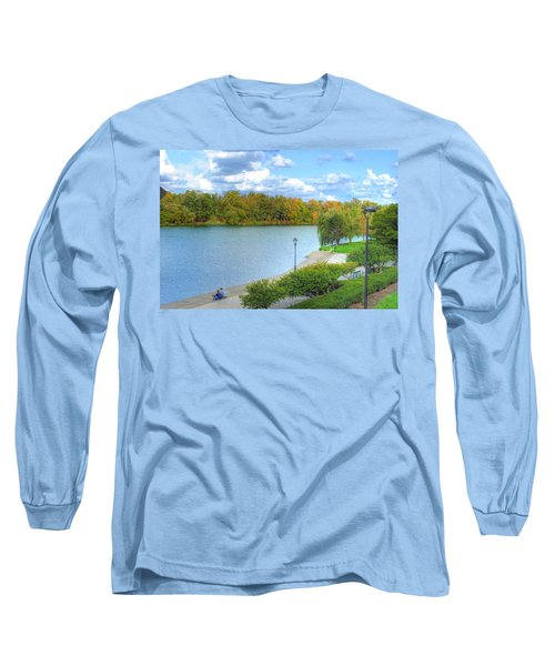 Long Sleeve T-Shirt featuring the photograph Relaxing At Hoyt Lake by Michael Frank Jr