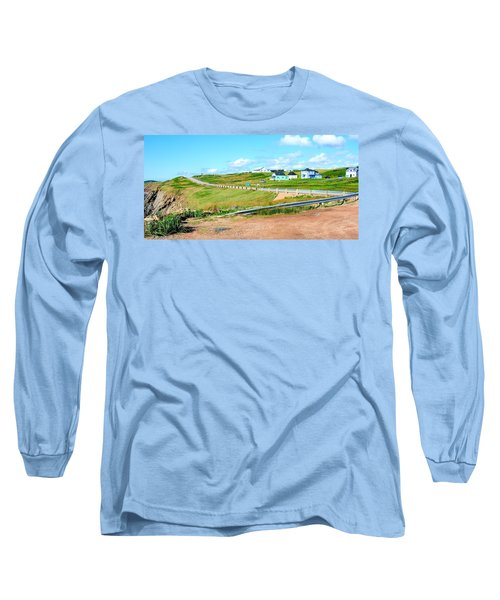 Long Sleeve T-Shirt featuring the photograph Road Trip In Cape Breton Nova Scotia by Joe  Ng