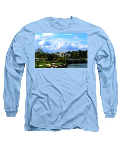 Long Sleeve T-Shirt featuring the photograph Rose Garden And Hoyt Lake by Michael Frank Jr