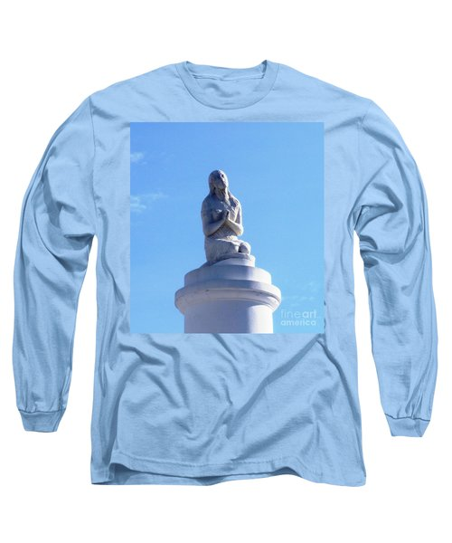 Long Sleeve T-Shirt featuring the photograph St. Louis Cemetery Statue 1 by Alys Caviness-Gober