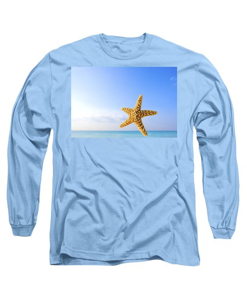 Starfish In Front Of The Ocean Long Sleeve T-Shirt