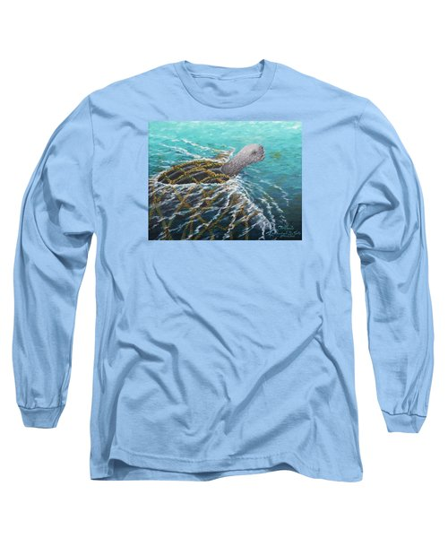 Struggle -leatherback Sea Turtle Long Sleeve T-Shirt