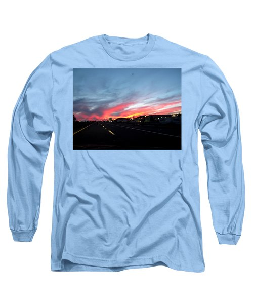 Sunset On Route 66 Long Sleeve T-Shirt