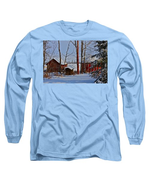 Three Little Houses Long Sleeve T-Shirt by Johanna Bruwer