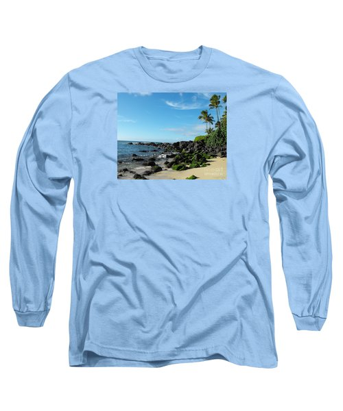 Turtle Beach Oahu Hawaii Long Sleeve T-Shirt by Rebecca Margraf
