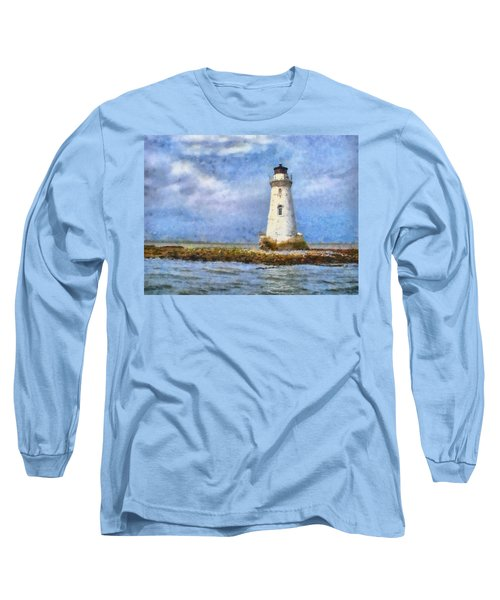 Tybee Island Lighthouse Long Sleeve T-Shirt by Lynne Jenkins
