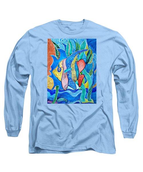 Under The Sea Long Sleeve T-Shirt by Sandra Lira