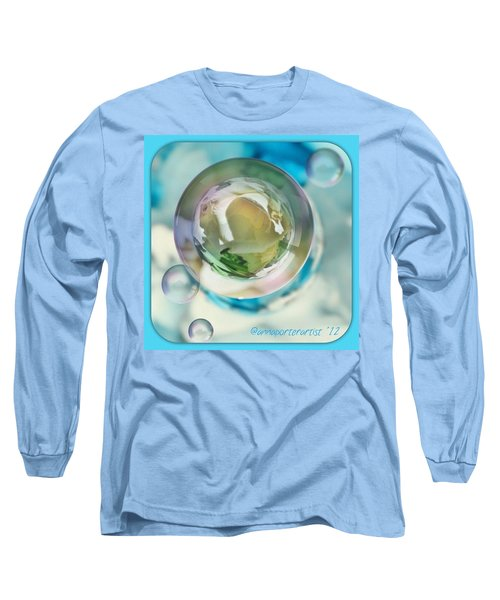 White Gladiola Marble In A Bubble Long Sleeve T-Shirt
